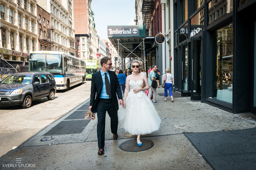 Claire and daniel 39 s new york city hall wedding new york for City hall wedding dresses nyc