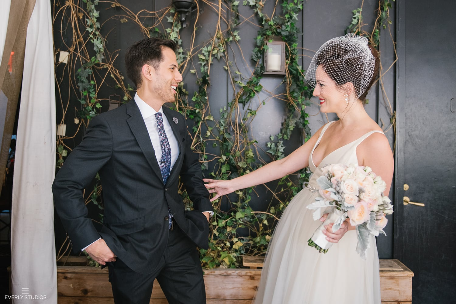 New York wedding first look
