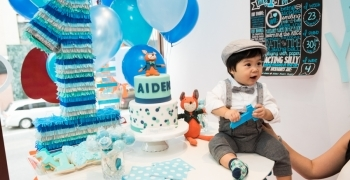 Aiden's first birthday party at Sprinkles NYC. Photos by New York kids birthday party photographer Everly Studios, www.everlystudios.com