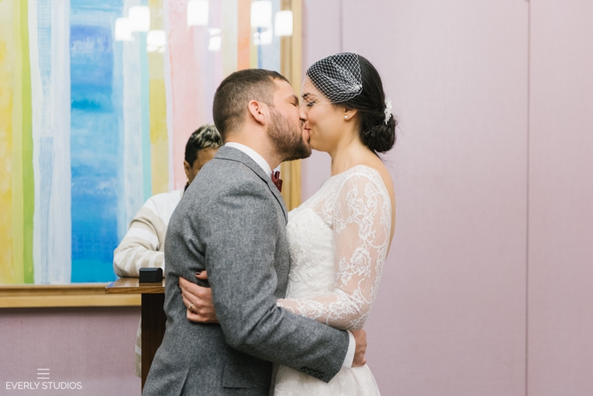 New York City Elopement. Colin and Michelle's New York City Hall elopement