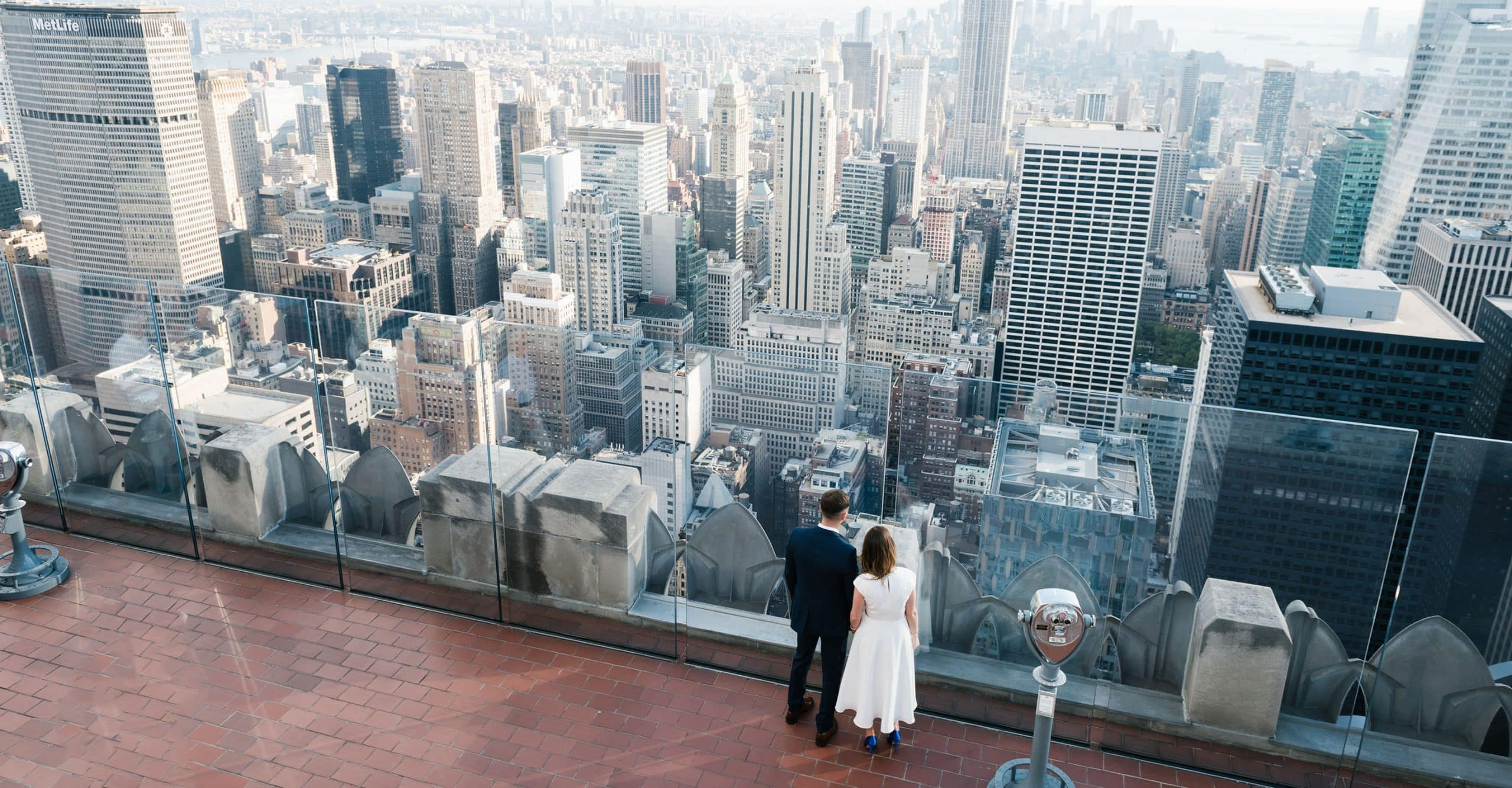 Top of the Rock wedding in NYC