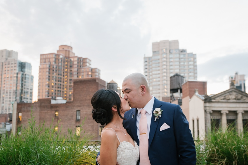 The Nomad Hotel rooftop wedding in NYC. Photos by New York wedding photographer Everly Studios, www.everlystudios.com