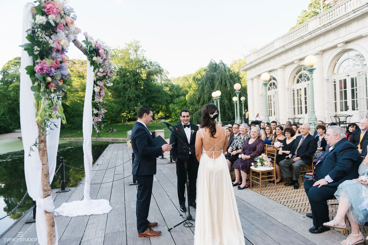 wedding at Prospect Park Boathouse