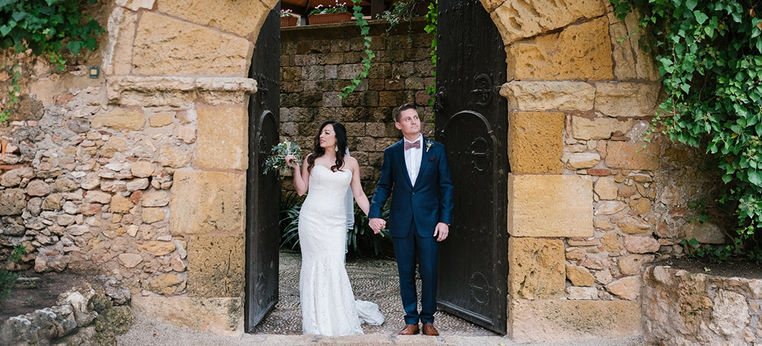 Castle Tamarit wedding in Tarragona, Spain. Photo by destination wedding photographer Everly Studios, www.everlystudios.com