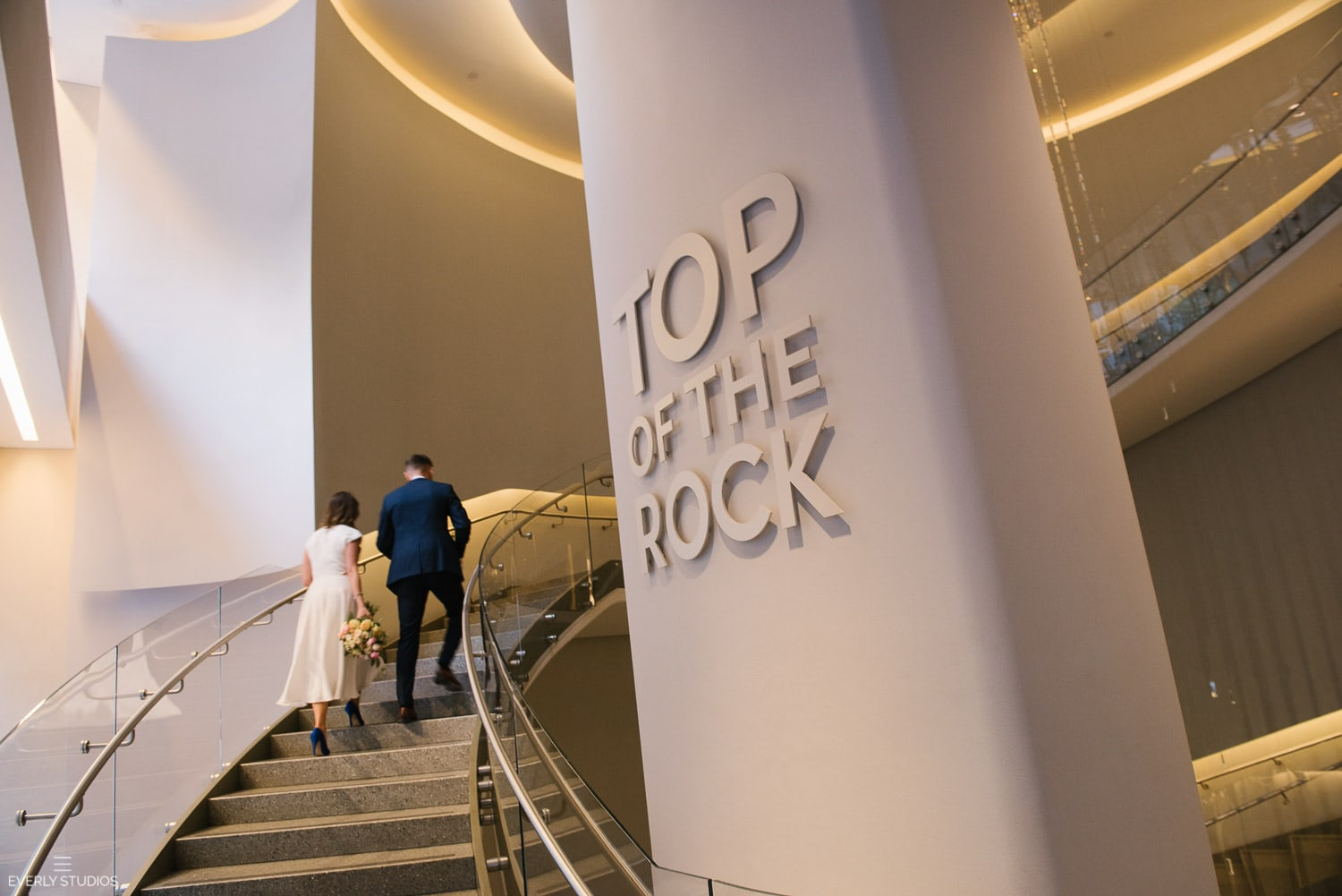 Top of the Rock Wedding and City Hall elopement in New York