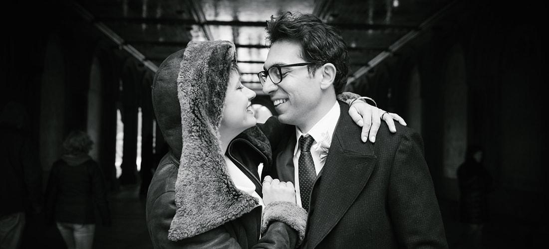Winter wedding in Central Park
