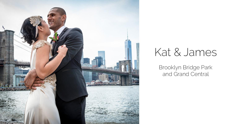 New York elopement at Brooklyn Bridge Park. Photos by New York elopement photographer Everly Studios.com