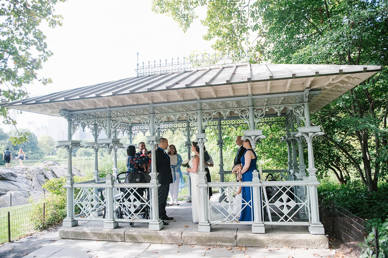 Places to Elope in NYC: Ladies Pavilion wedding in Central Park, NYC