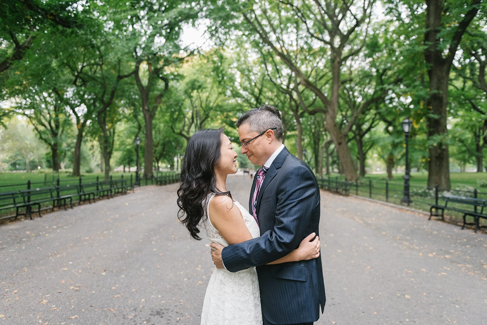 The Mall wedding in Central Park, New York