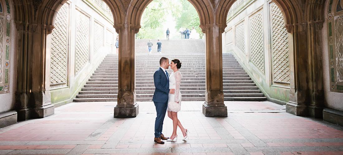 Bethesda Terrace wedding photo