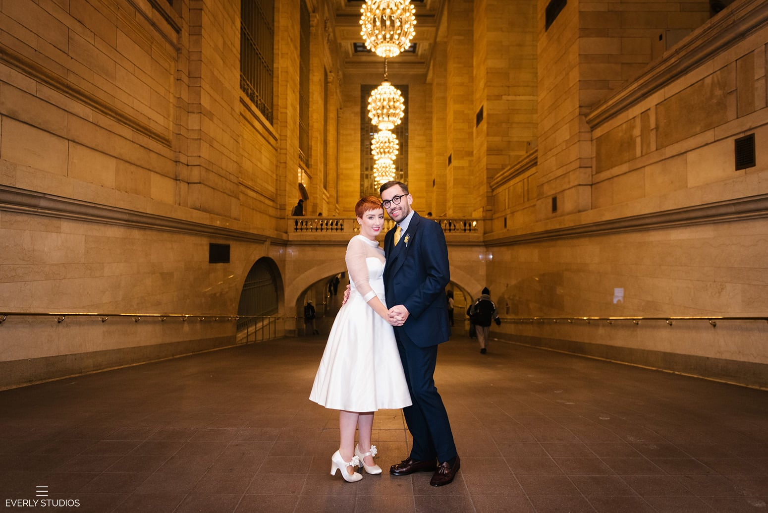 Grand Central wedding. Iconic New York wedding locations with a view. Photo by Brooklyn wedding photographer Everly Studios, www.everlystudios.com
