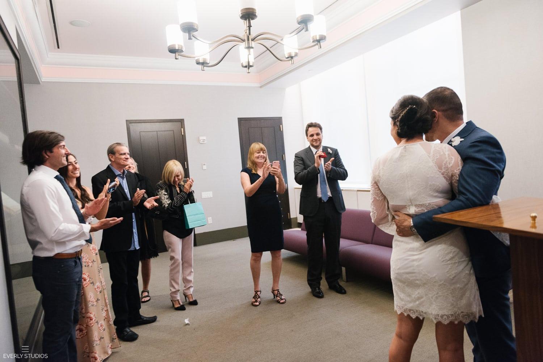New York City Hall wedding. Photos by New York City Hall wedding photographer Everly Studios, www.everlystudios.com