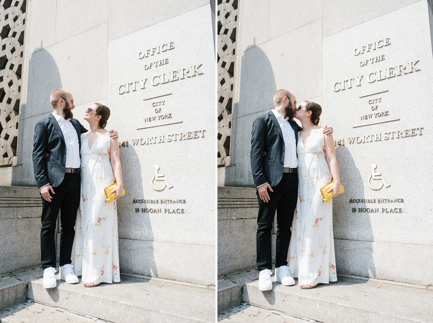 City Hall Marriage NYC at the Manhattan Marriage Bureau. Photos by NYC wedding photographer Everly Studios, www.everlystudios.com