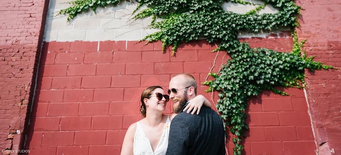 Industrial Red Hook wedding in Brooklyn. Photos by Brooklyn wedding photographer Everly Studios, www.everlystudios.com