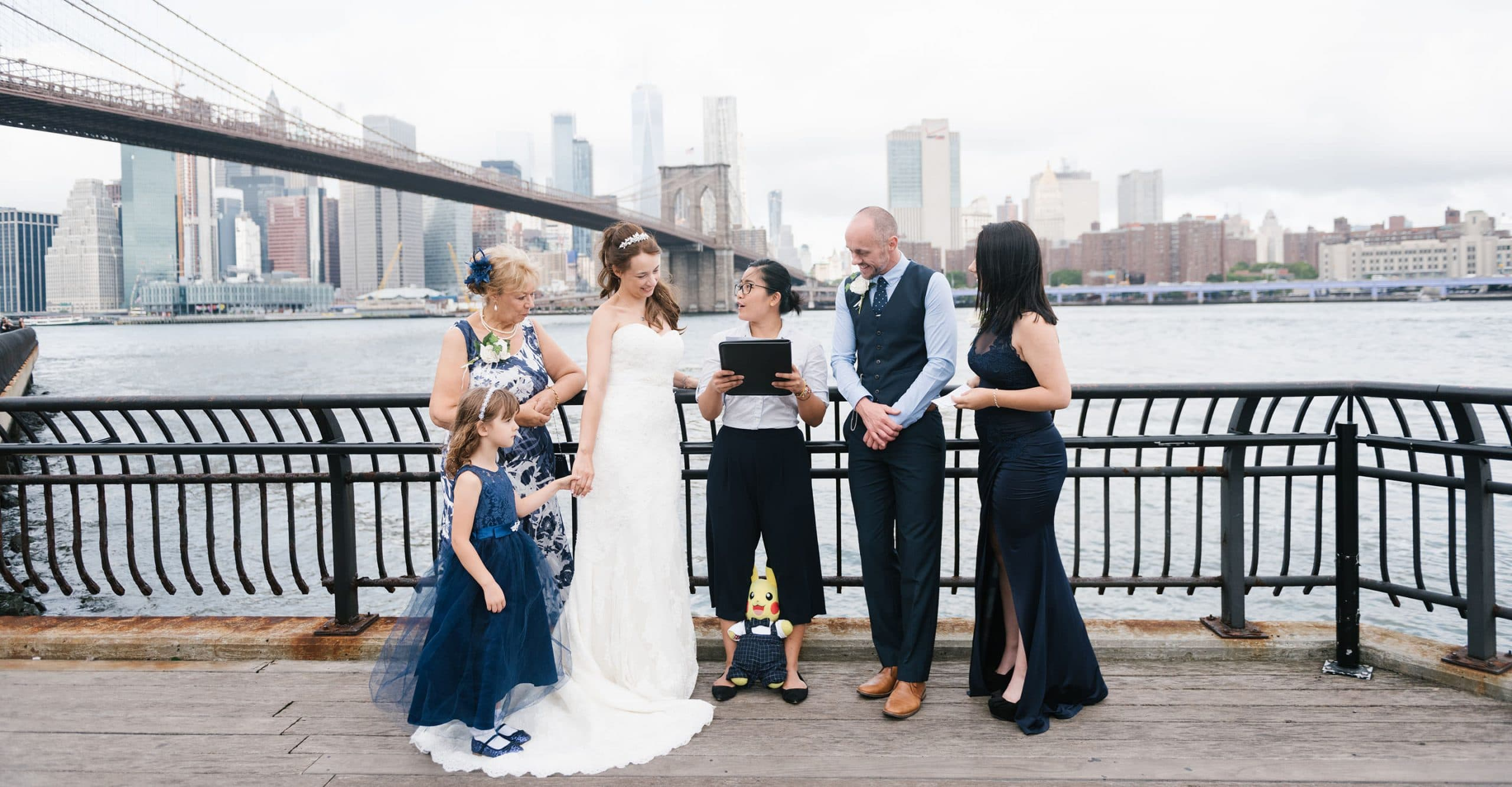 Brooklyn Bridge Park vow renewal