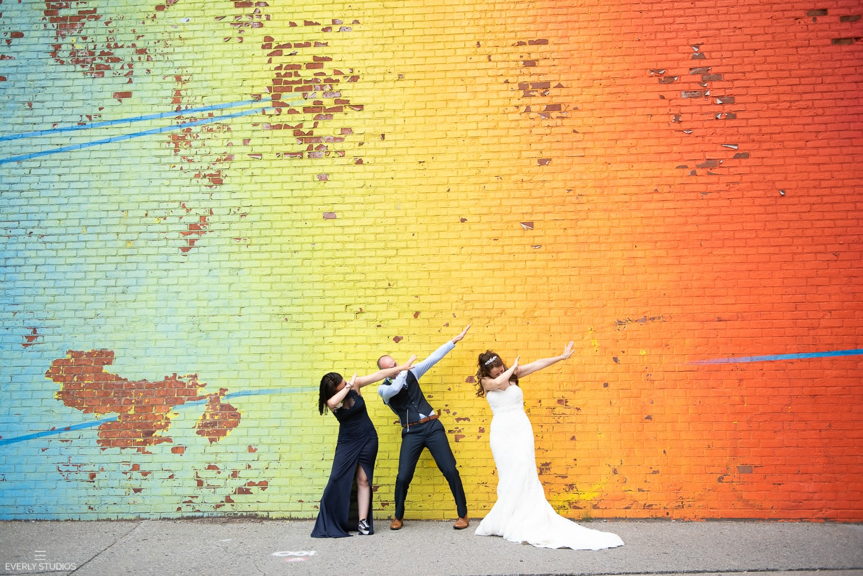 DUMBO wedding photos in Brooklyn. Photos by Brooklyn wedding photographer Everly Studios, www.everlystudios.com