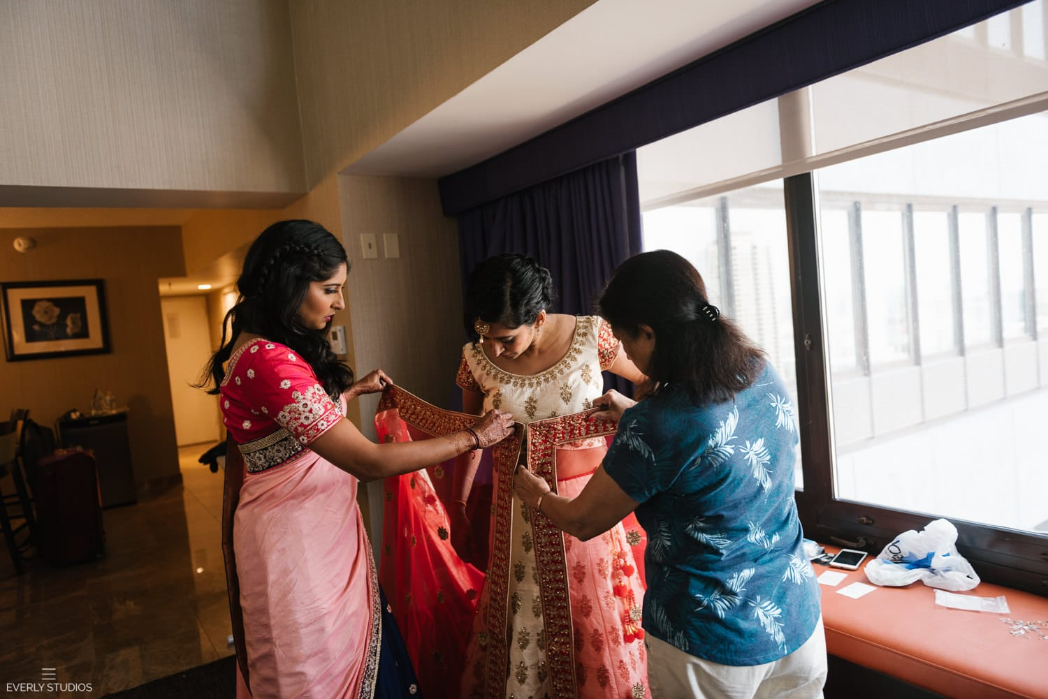 Wolf Point Ballroom wedding in Chicago. Photography by Indian wedding photographer NYC Everly Studios, www.everlystudios.com