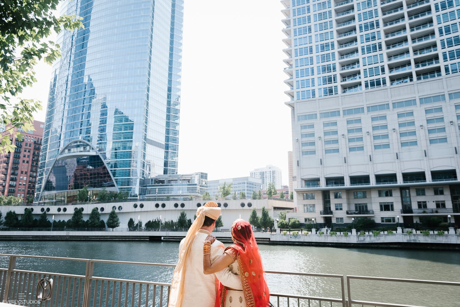 Wolf Point Ballroom wedding Chicago. Indian wedding photography by New York wedding photographer Everly Studios, www.everlystudios.com