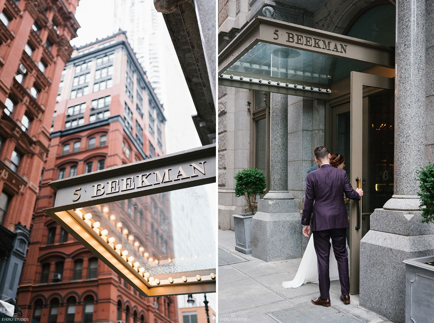 Beekman Hotel wedding photos, NYC. Photos by NYC elopement photographer Everly Studios, www.everlystudios.com