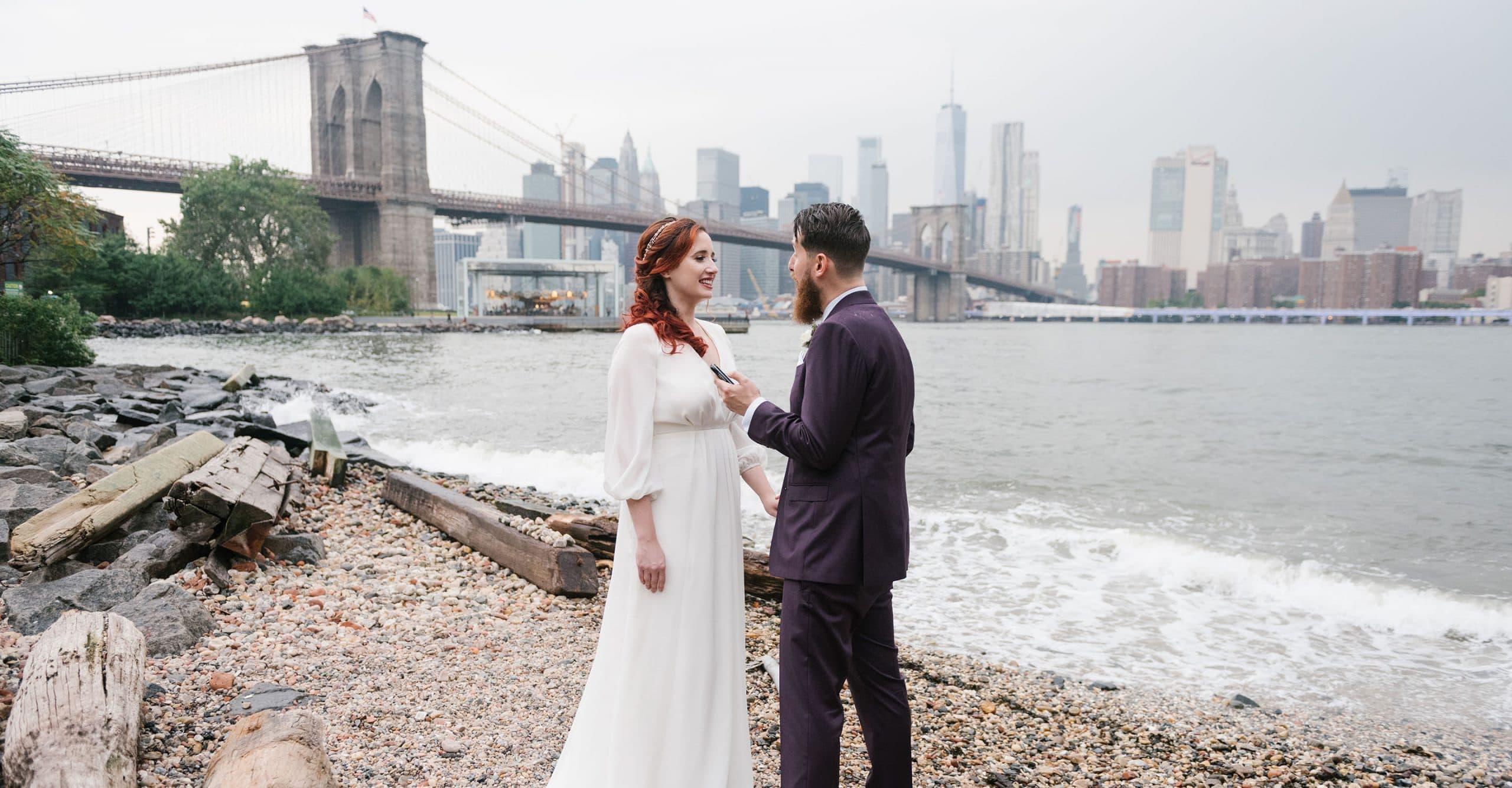 Brooklyn Bridge Park elopement