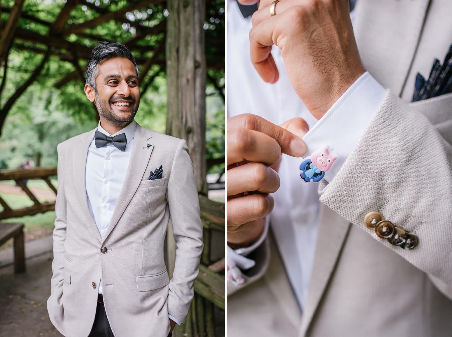 Small Cop Cot wedding groom photos