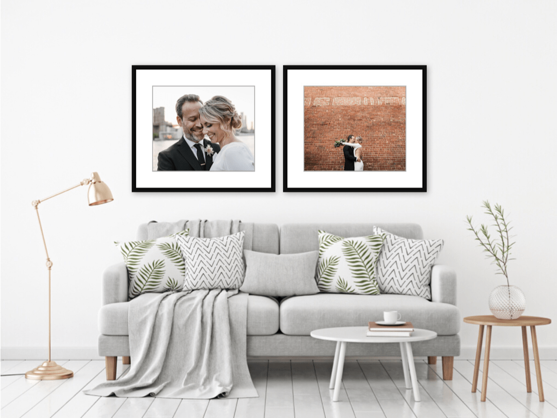 framed wall art for wedding photography