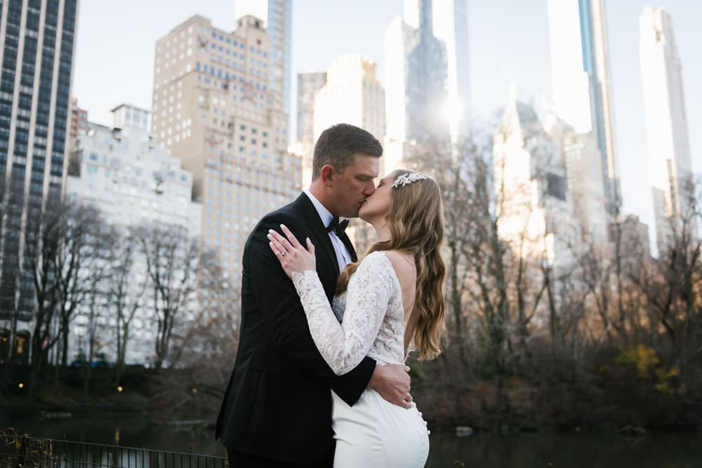 NYC elopement in Central Park at Gapstow Bridge. Photo by NYC wedding photographer Everly Studios.