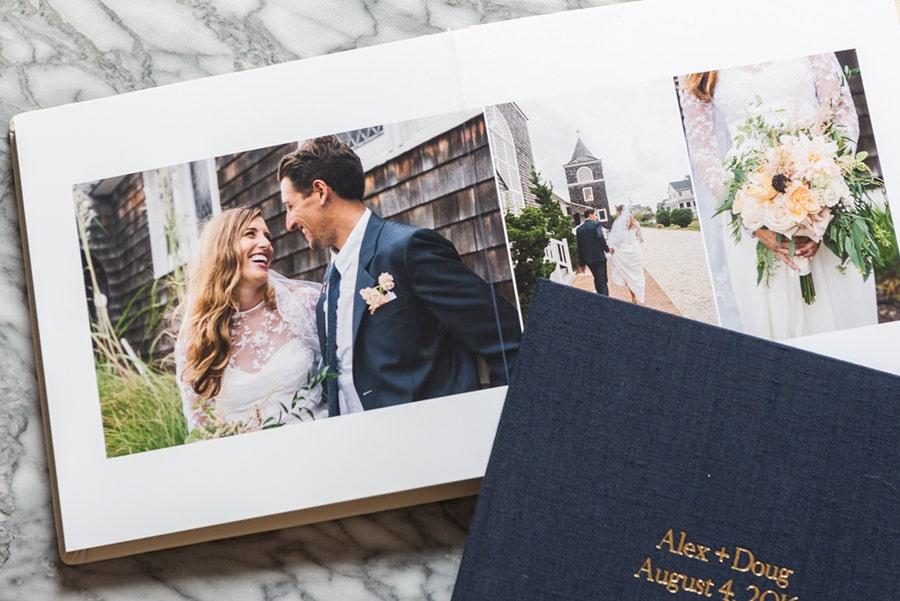 Wedding photography in New York - custom wedding album