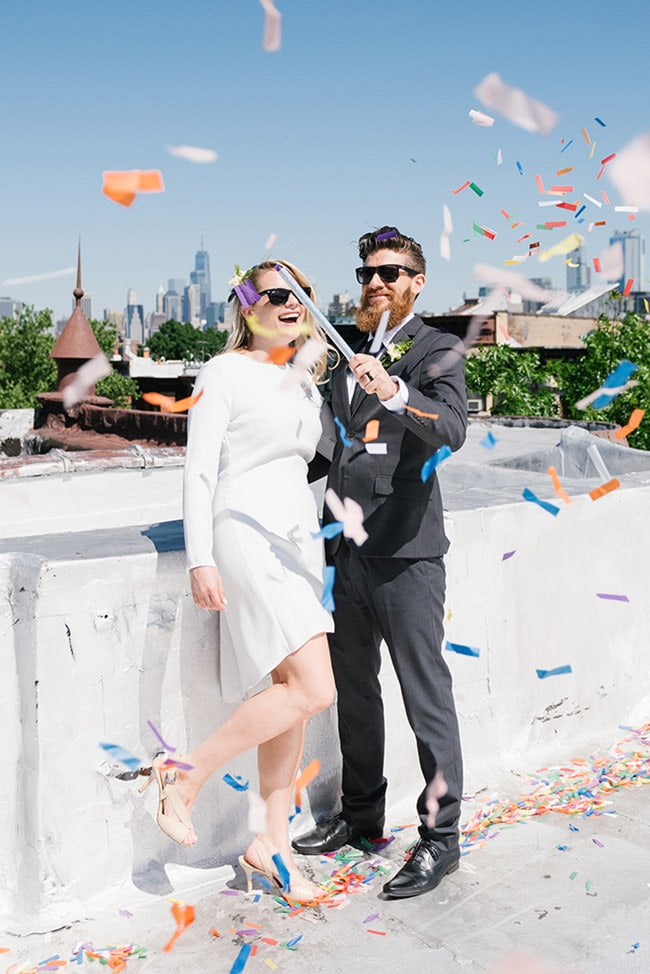 NYC rooftop elopement - NYC elopement photographer package