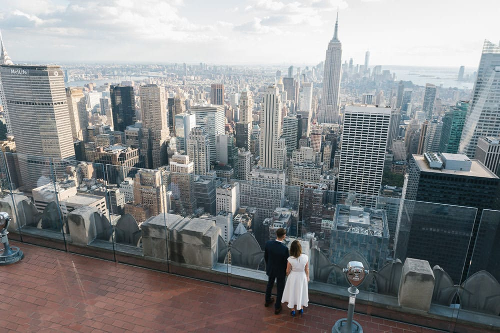 Top of the Rock wedding NYC - NYC elopement photographer packages