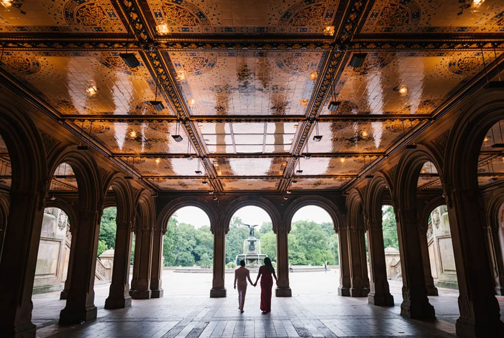 Bethesda Terrace wedding in Central Park NYC