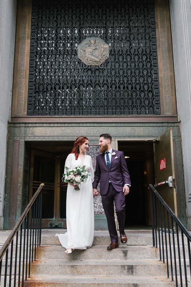 NYC City Hall wedding exit