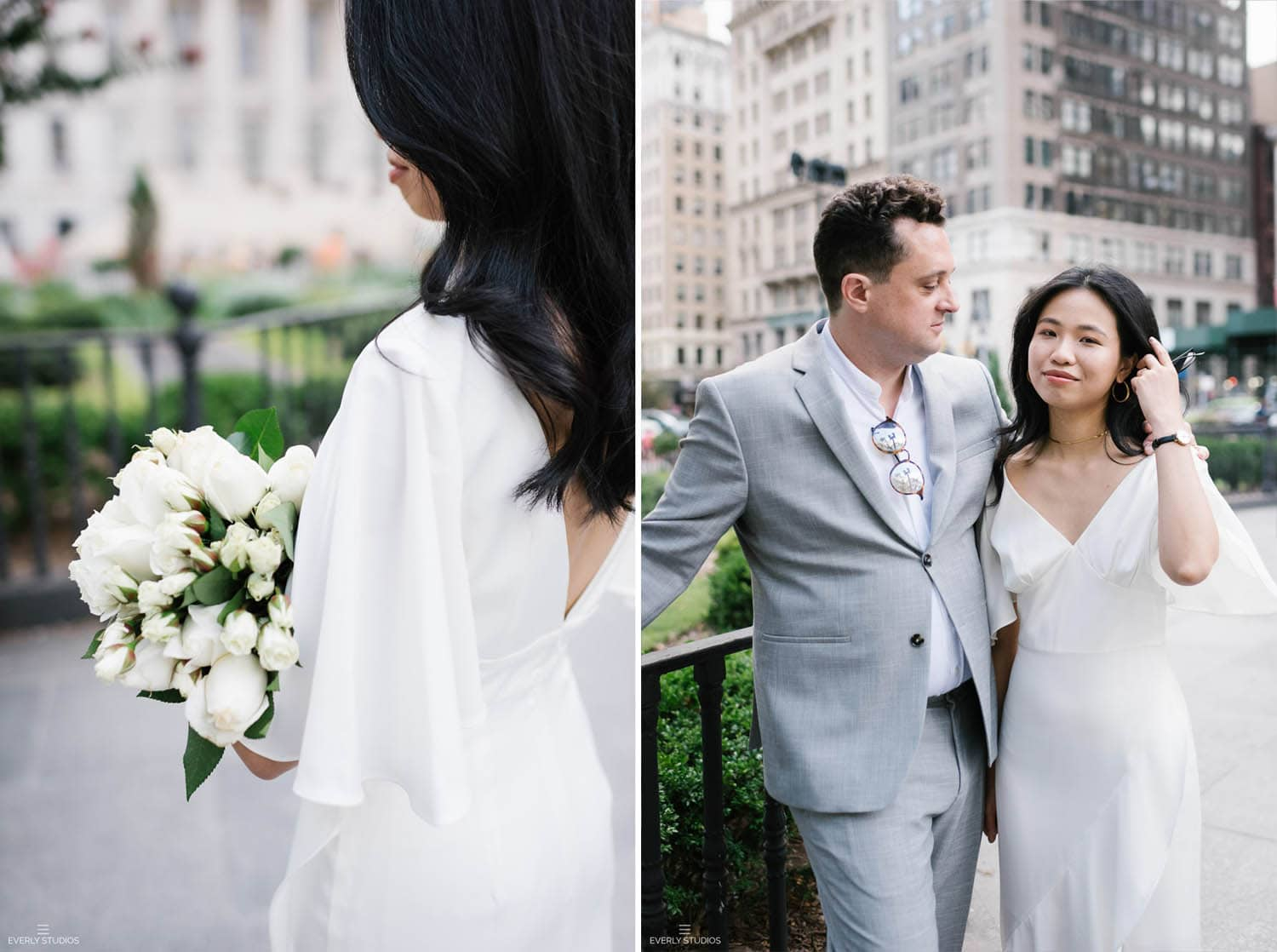 Getting married at Brooklyn City Hall: a Brooklyn City Hall wedding, photographer by Brooklyn wedding photographer Everly Studios