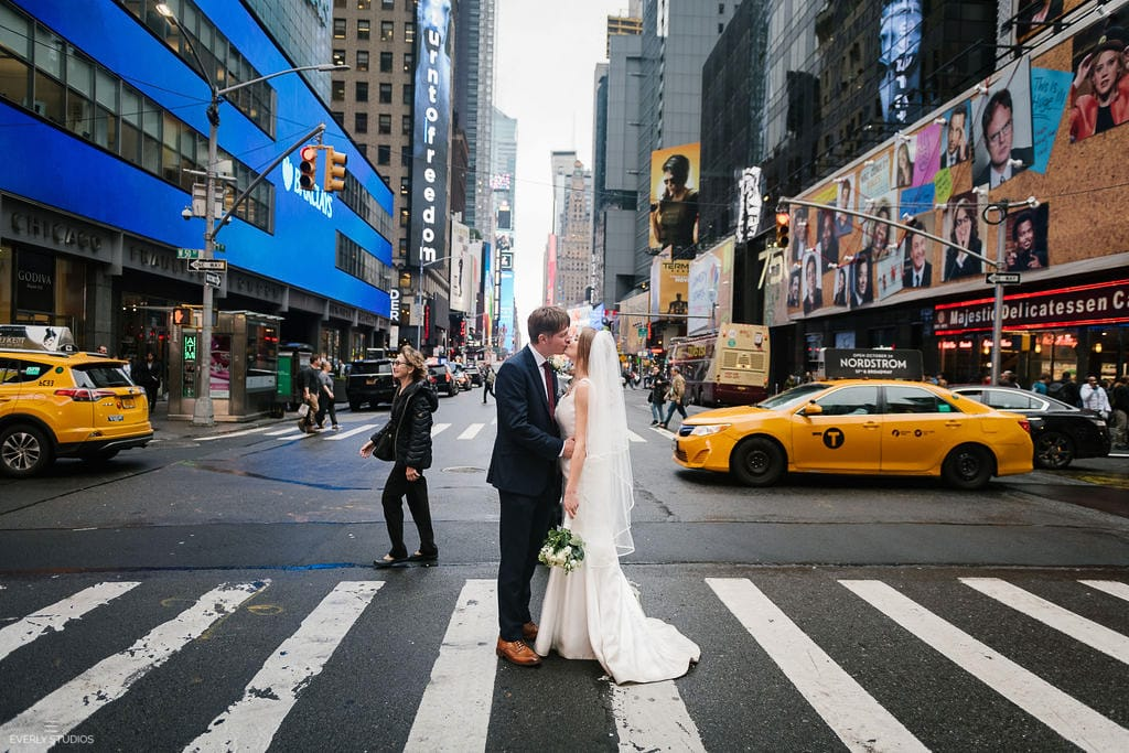 Times Square NYC wedding photos