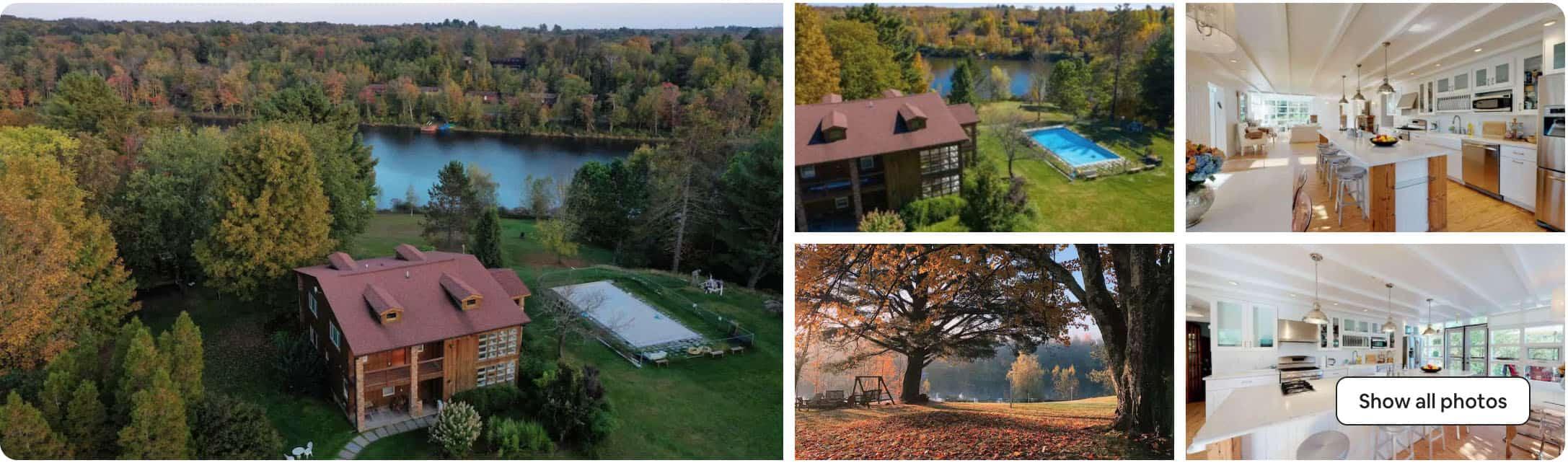 Catskills Airbnb on Swan Lake