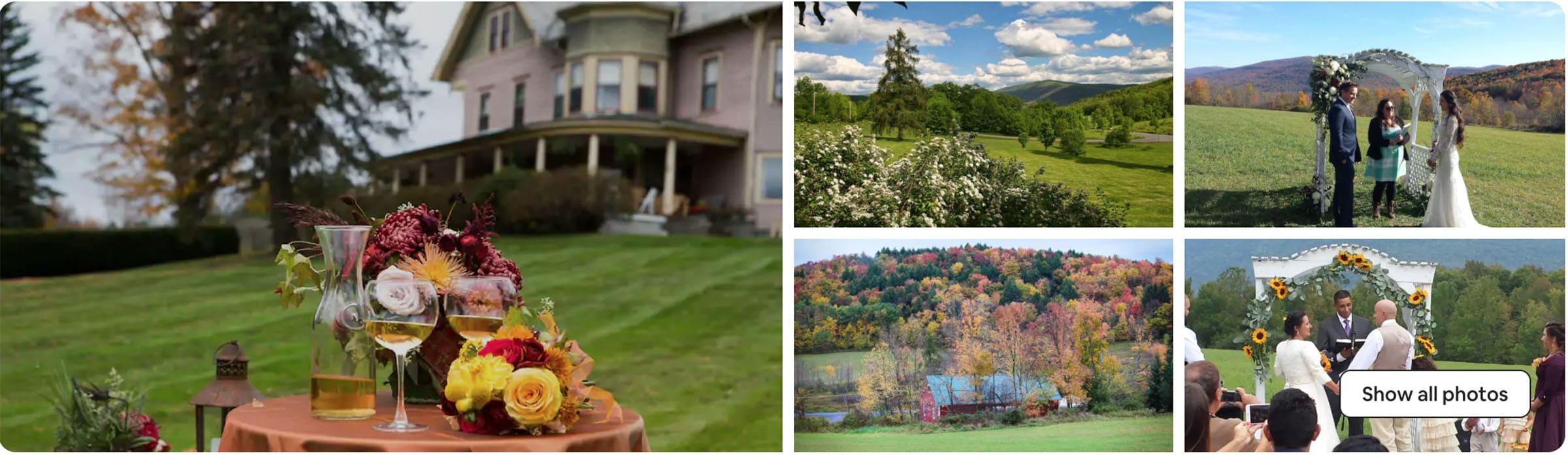 best airbnb wedding venue in Catskills