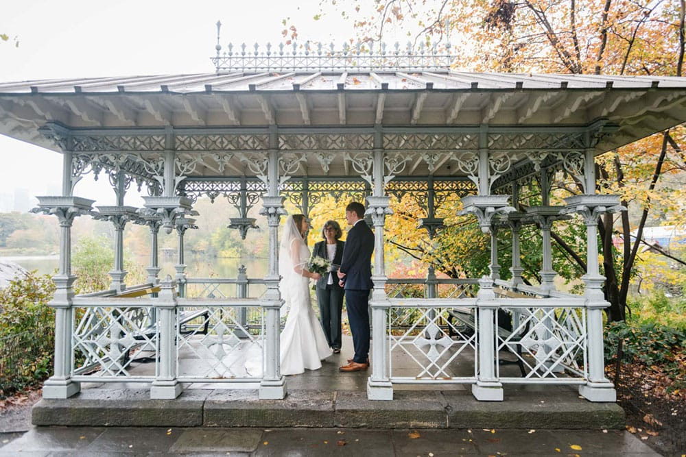 Central Park wedding officiant in NYC