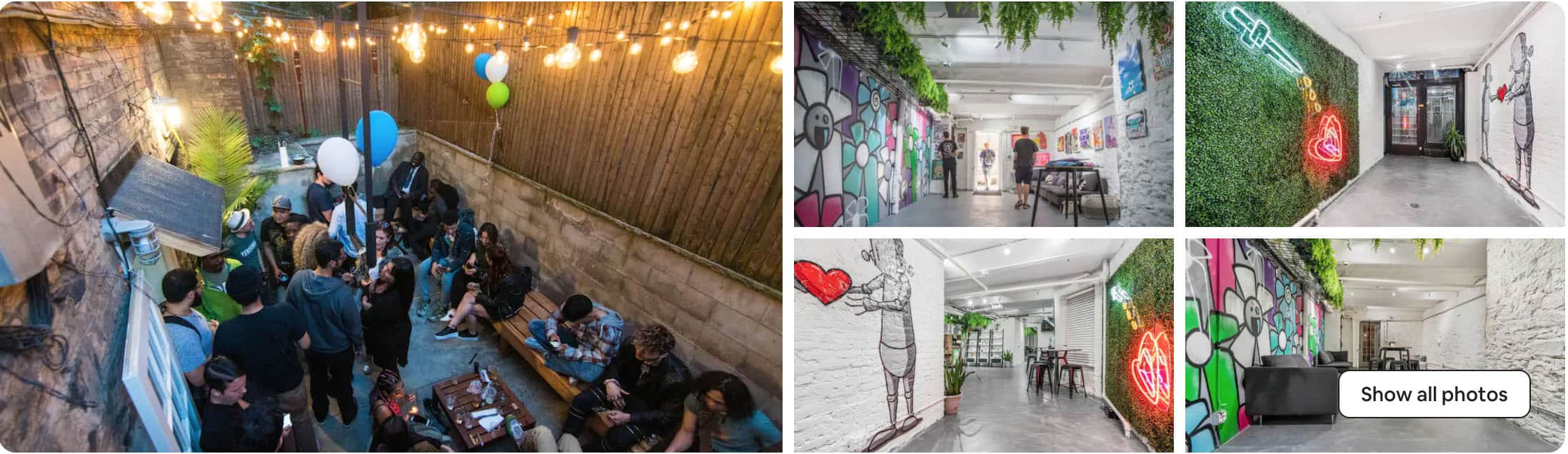 best Airbnb for parties in NYC - East Village event space