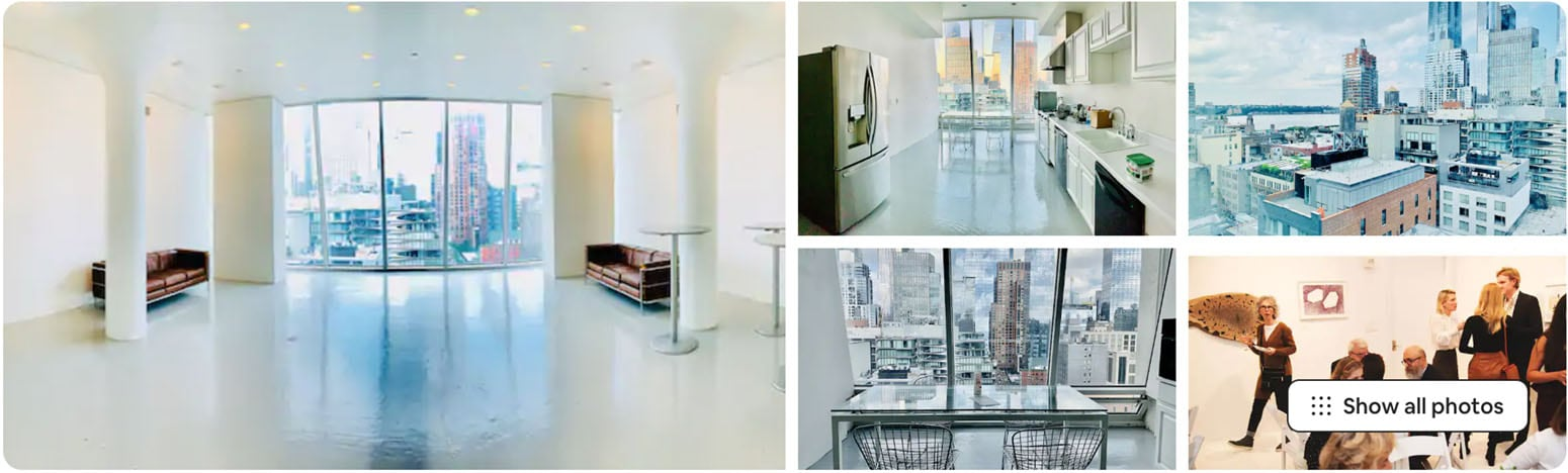 best Airbnb for parties in NYC - penthouse overlooking the high line in NYC