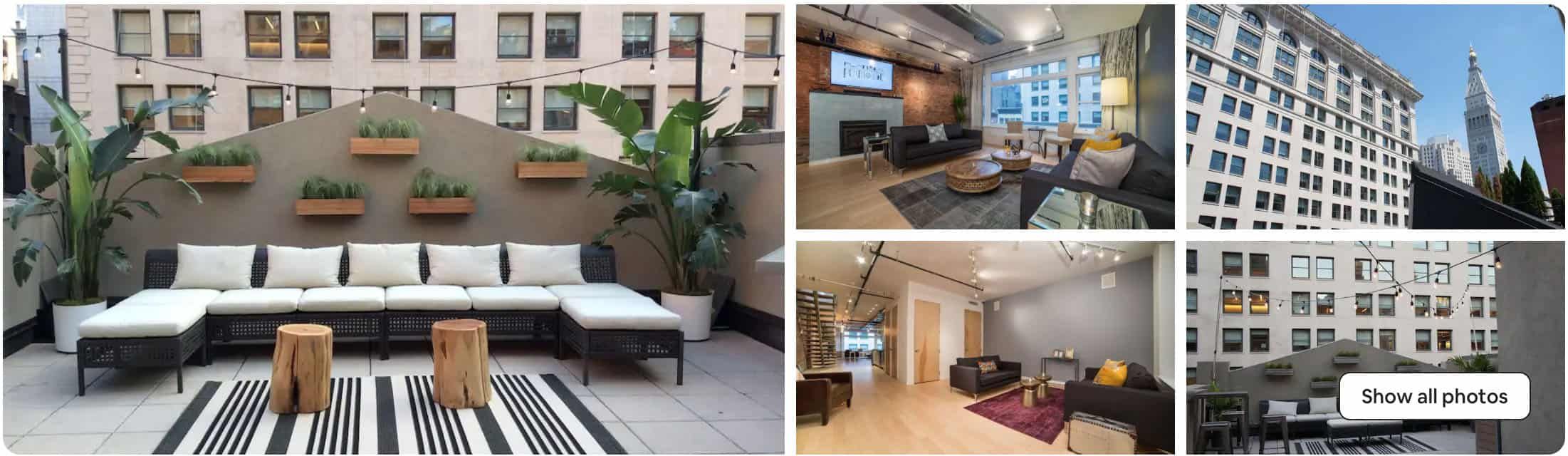 Airbnb wedding venue NYC penthouse space
