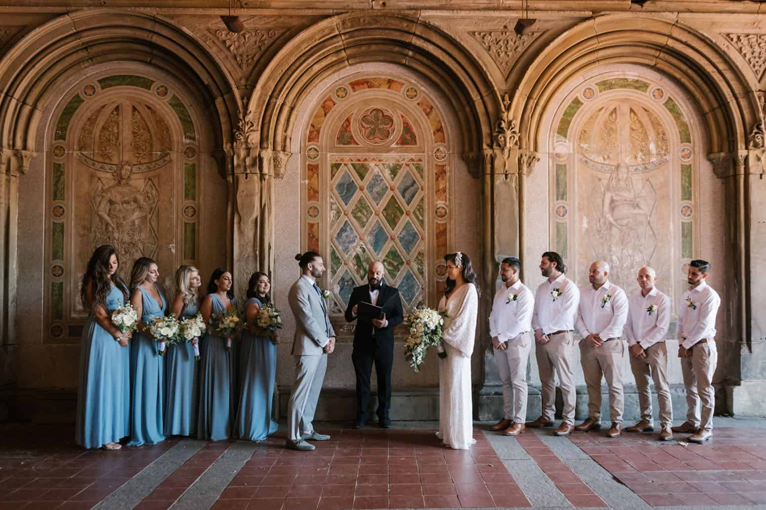 Bethesda Terrace wedding at Central Park NYC