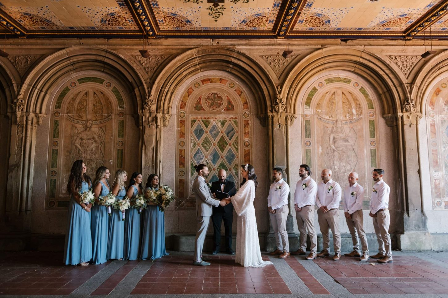 Bethesda Terrace wedding at Central Park NYC
