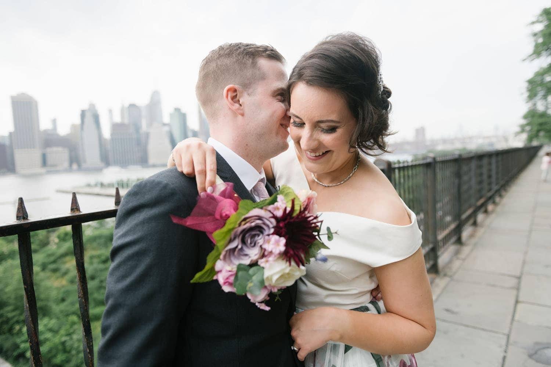 NYC elopement locations: brooklyn heights promenade wedding