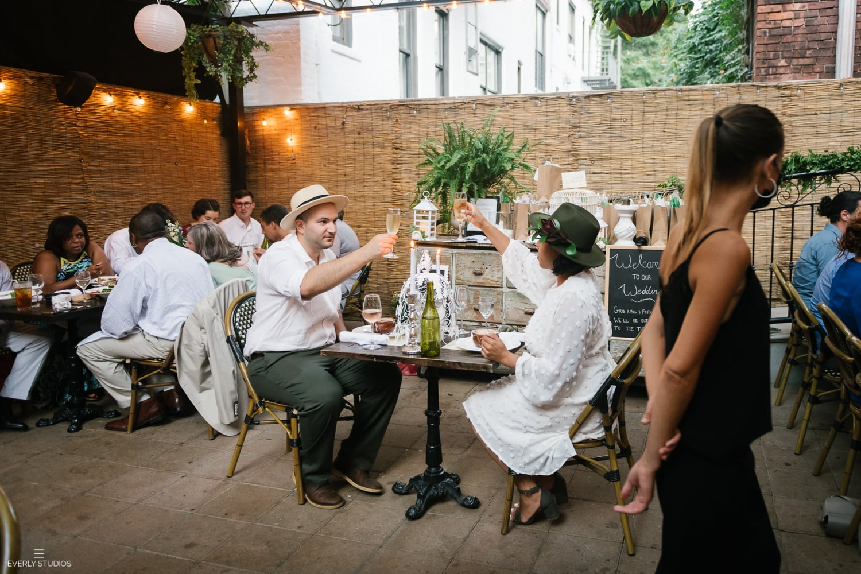 Brooklyn restaurant wedding at Bacchus Bistro, New York