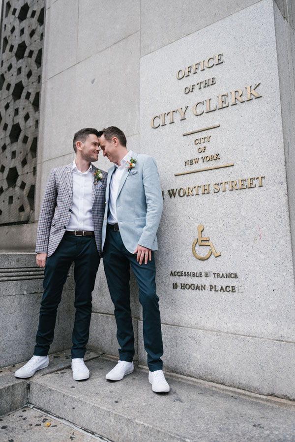Same sex New York City Hall wedding