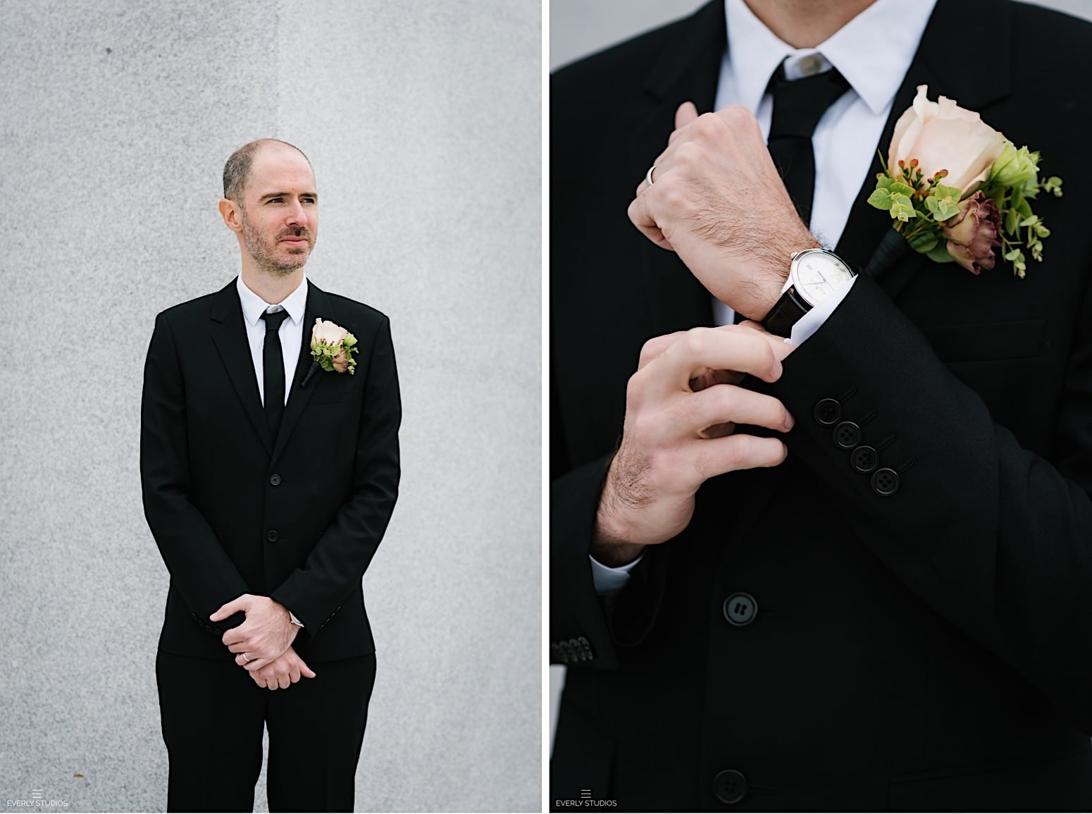 Four Freedoms Park wedding on Roosevelt Island NYC. Photos by NYC elopement photographer Everly Studios.