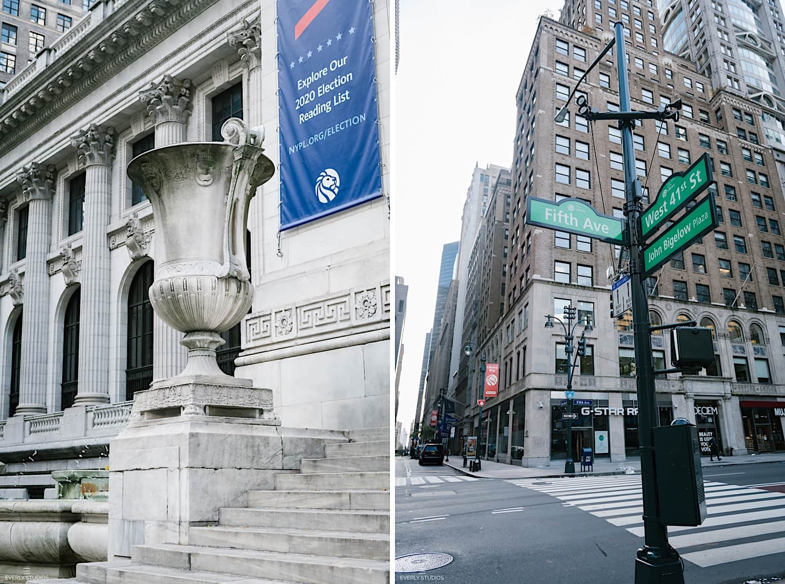 New York Public Library engagement photos in midtown Manhattan NYC
