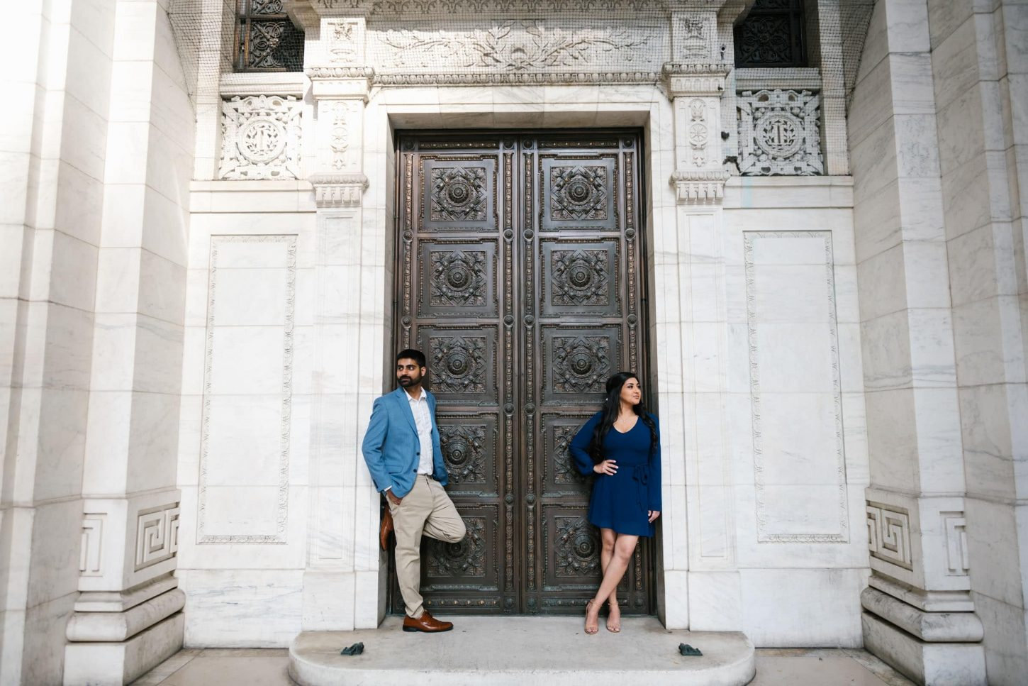NYPL engagement photos