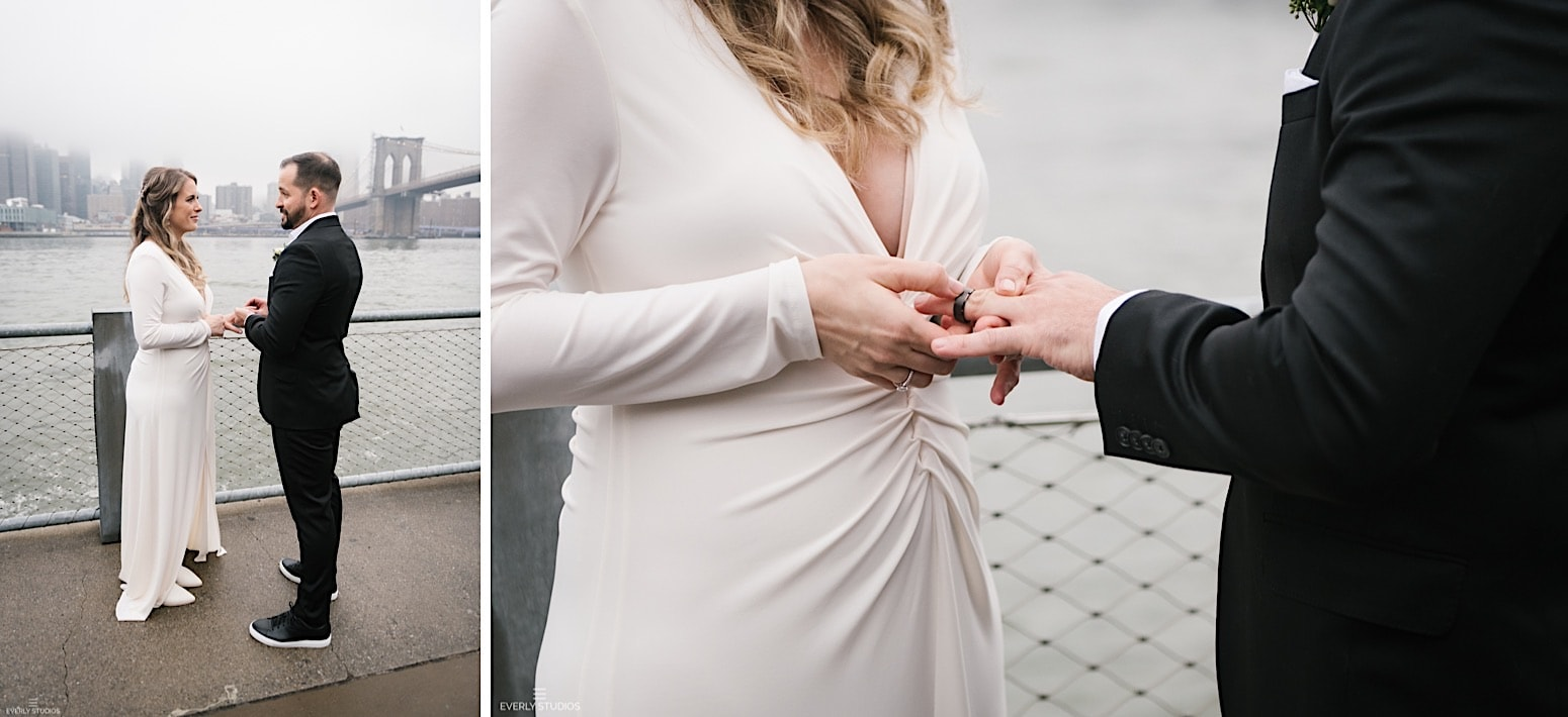 Empire Fulton Ferry Boardwalk Wedding in Brooklyn Bridge Park