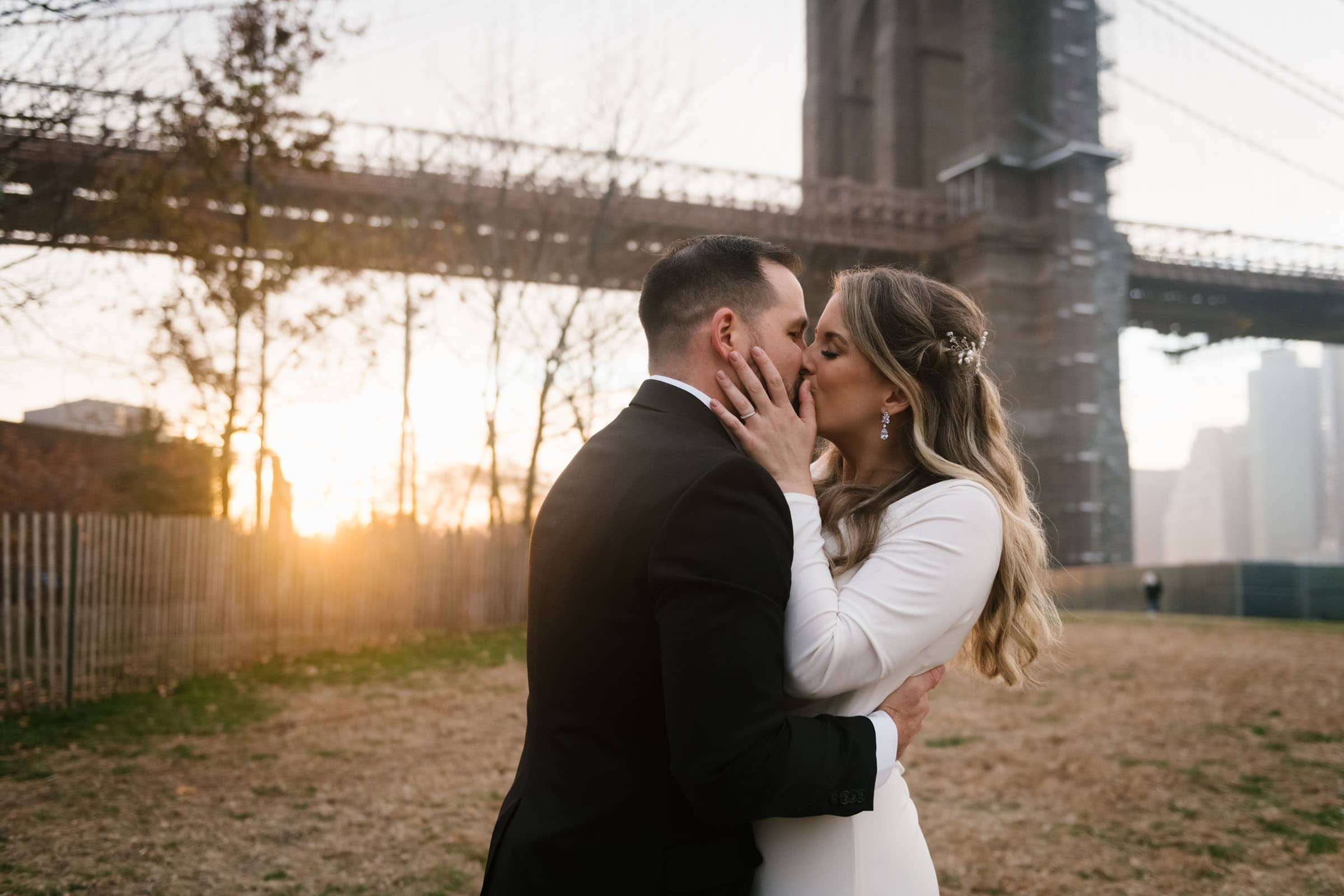 Empire Fulton Ferry Boardwalk wedding at Brooklyn Bridge Park